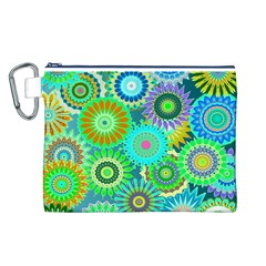 Funky Flowers A Canvas Cosmetic Bag (L)