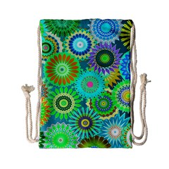 Funky Flowers A Drawstring Bag (Small)