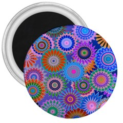 Funky Flowers B 3  Magnets