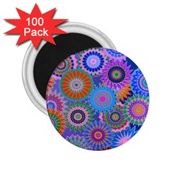 Funky Flowers B 2.25  Magnets (100 pack)