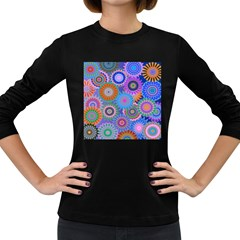 Funky Flowers B Women s Long Sleeve Dark T-Shirts