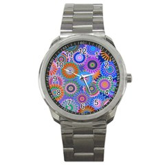 Funky Flowers B Sport Metal Watch
