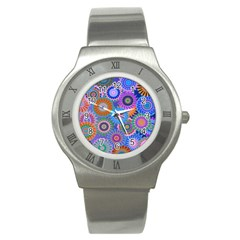 Funky Flowers B Stainless Steel Watch