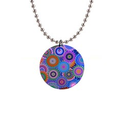 Funky Flowers B Button Necklaces