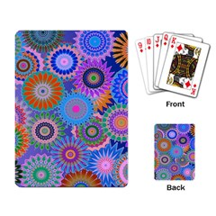 Funky Flowers B Playing Card