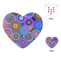Funky Flowers B Playing Cards (Heart)