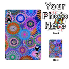 Funky Flowers B Playing Cards 54 Designs