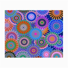 Funky Flowers B Small Glasses Cloth (2-Side)