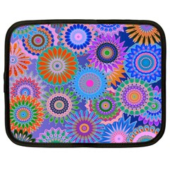Funky Flowers B Netbook Case (Large)