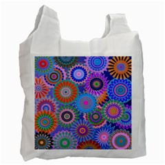 Funky Flowers B Recycle Bag (Two Side)