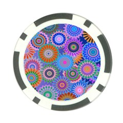 Funky Flowers B Poker Chip Card Guards (10 pack)