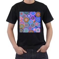 Funky Flowers B Men s T-Shirt (Black)