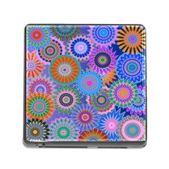 Funky Flowers B Memory Card Reader (Square)