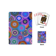 Funky Flowers B Playing Cards (Mini)