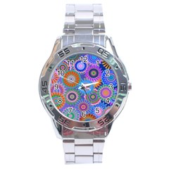 Funky Flowers B Stainless Steel Analogue Watch
