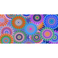Funky Flowers B YOU ARE INVITED 3D Greeting Card (8x4)