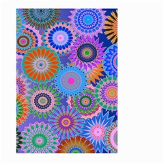 Funky Flowers B Large Garden Flag (Two Sides)