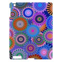Funky Flowers B Apple iPad 3/4 Hardshell Case