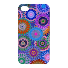 Funky Flowers B Apple iPhone 4/4S Premium Hardshell Case