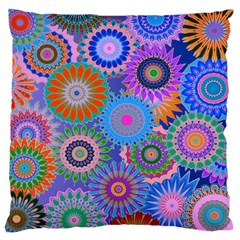Funky Flowers B Large Cushion Case (One Side)