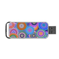 Funky Flowers B Portable USB Flash (Two Sides)