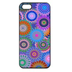 Funky Flowers B Apple iPhone 5 Seamless Case (Black)