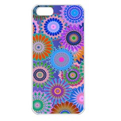 Funky Flowers B Apple iPhone 5 Seamless Case (White)