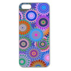 Funky Flowers B Apple Seamless iPhone 5 Case (Clear)