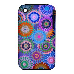 Funky Flowers B Apple iPhone 3G/3GS Hardshell Case (PC+Silicone)