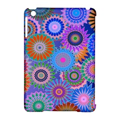 Funky Flowers B Apple iPad Mini Hardshell Case (Compatible with Smart Cover)
