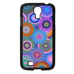 Funky Flowers B Samsung Galaxy S4 I9500/ I9505 Case (Black)
