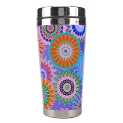 Funky Flowers B Stainless Steel Travel Tumblers