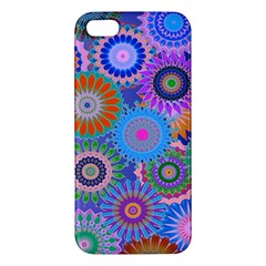 Funky Flowers B iPhone 5S/ SE Premium Hardshell Case