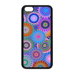 Funky Flowers B Apple iPhone 5C Seamless Case (Black)