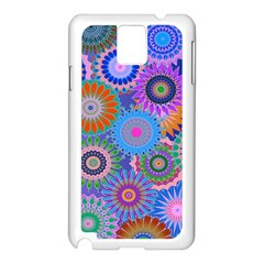 Funky Flowers B Samsung Galaxy Note 3 N9005 Case (White)