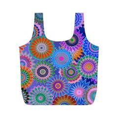 Funky Flowers B Full Print Recycle Bags (M)