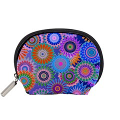 Funky Flowers B Accessory Pouches (Small)