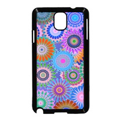 Funky Flowers B Samsung Galaxy Note 3 Neo Hardshell Case (Black)