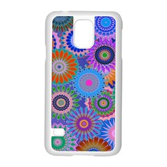 Funky Flowers B Samsung Galaxy S5 Case (White)