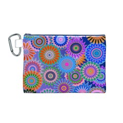 Funky Flowers B Canvas Cosmetic Bag (M)