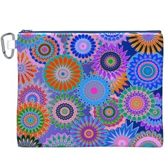 Funky Flowers B Canvas Cosmetic Bag (XXXL)