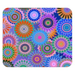Funky Flowers B Double Sided Flano Blanket (Small)