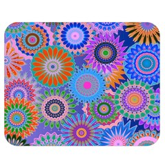 Funky Flowers B Double Sided Flano Blanket (Medium)