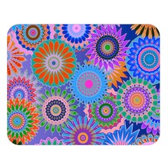Funky Flowers B Double Sided Flano Blanket (Large)