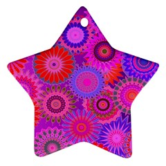 Funky Flowers C Ornament (Star)