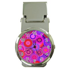 Funky Flowers C Money Clip Watches