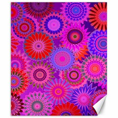 Funky Flowers C Canvas 20  x 24