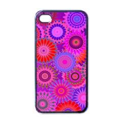 Funky Flowers C Apple iPhone 4 Case (Black)