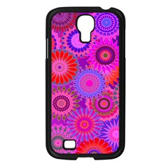 Funky Flowers C Samsung Galaxy S4 I9500/ I9505 Case (Black)