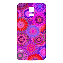 Funky Flowers C Samsung Galaxy S5 Back Case (white)